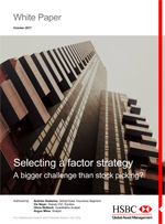 Selecting a factor strategy